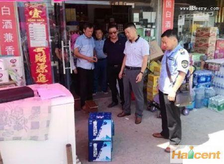安徽定远县市场监管局开展专项检查:暂扣96箱雪花威廉希尔app网站