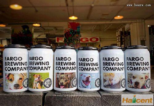 美国一家fun88乐天堂公司把狗狗照片印在罐子上 以帮助它们被收养