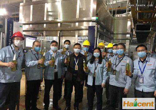 珠江雷竞技APP下载南沙公司C线新酒机顺利灌装出酒