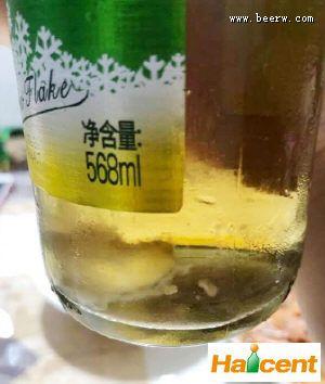 raybet雷竞雪花雷竞技app官网瓶内现不明物,网友获千元赔偿
