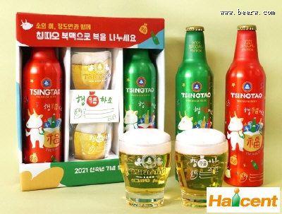 青岛啤酒新年限量版韩国上市