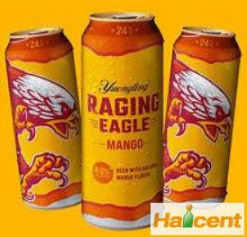 """美国云岭啤酒公司推出新品""""愤怒的鹰""""芒果啤酒"""